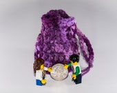Coin Bag - Shades of Purple - Money Dice Token Medicine Bag - Drawstring - Tones of Orchid Lavender Lilac Plum Multi Colour Color