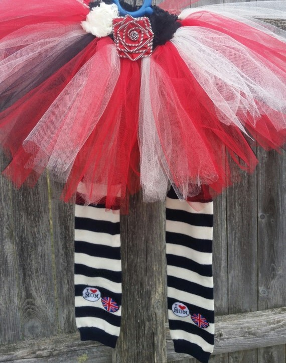 Rockabilly tutu!  A little bit punk and a little bit shabby chic.  Matching legwarmers included.