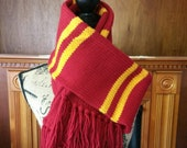Harry Potter inspired upperclass Gryffindor scarf