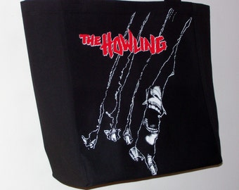 The Howling Werewolf Horror Back Patch Tote Bag 1981
