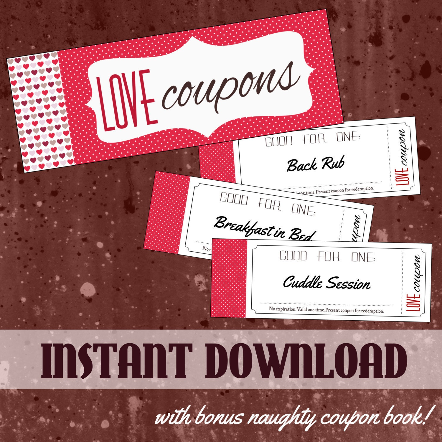 Couples coupon book love and a little bit naughty coupon for Love coupons for him template