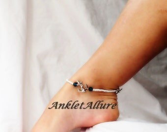 Anchor Anklet Island Cruise Ankle Bracelet Beach Wedding Body Jewelry Silver Ankle Bracelet Sailor Anklet
