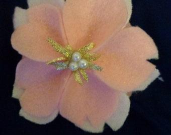 Cherry Blossom hair clip