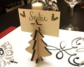 Christmas Tree Place Card Holder - Place Setting Name Tag - Holiday Decorations
