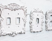 One Double Switchplate , Light Switch Covers , Switchplate ,Custom Switchplates ,Cast Iron Light Covers ,Rose Switch Plate, Flower, Rustic