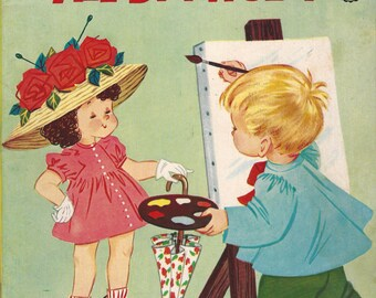 Things to Color All By Myself Vintage Coloring Book, C1969 (2 paged used)