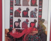 Vintage Quilt Pattern, Crazy for Cats II, Cat Quilt Pattern, Debbie Mumm Pattern, Mumm's the Word Pattern, 1990 Quilt Pattern, 90s Crafting