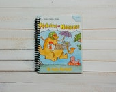 Little Golden Book/ Recycled Journal/ Spiral journal/ blank notebook/  Pocketful of Nonsense