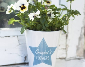 Personalised Plant Pot | Handprinted Ceramic Plant Pot | Flower Pot | Garden Decor | Custom Gift