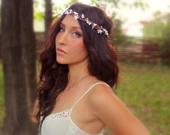 Fall Delicate Flower Crown,  Autumn, Flower, Bridal, Wedding headpiece, Destination Wedding, Flower Wreath, Rustic Wedding, Floral