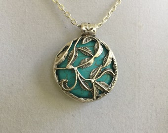 Turquoise and Pewter Design Necklace