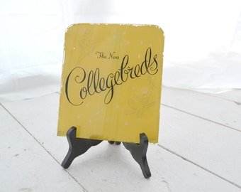 1940s Collegebreds Shoes Glass Reverse Painted Advertising Sign