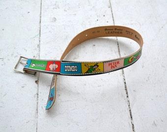 1980s Disney Child's Leather Belt
