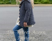 CROCHET PATTERN-The Breslin Sweater (2/3, 4/5, 6/7, 8/9, 10/12, 14/16, Small, Medium, Large and X-Large sizes)
