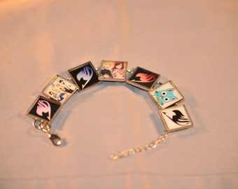 Fairy tail (anime) Bracelet with Resin.