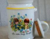 Vintage 1970s Moppets Fran Mar Porcelain Canister