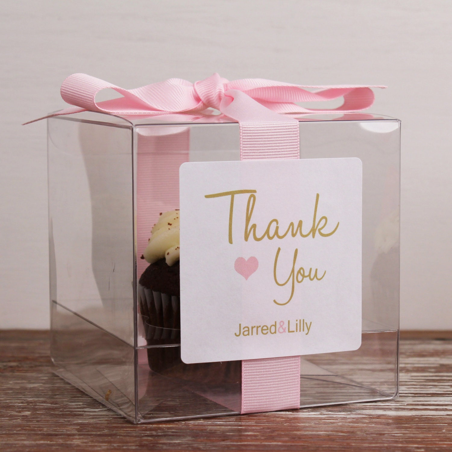 8 wedding favor cupcake boxes thank you design any. Black Bedroom Furniture Sets. Home Design Ideas