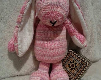 Toy Bunny Rabbit - Knitted Soft Toy