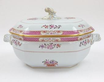 Vintage Soup Tureen - Serving Tureen, Large Porcelain Tureen, English Tureen, Spode's Lord Calvert Pattern, c1960s
