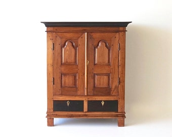 Furniture Antique Cupboard Teak and Rosewood Shipping Included