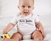 Funny Harry Potter Baby Onesie - Accio Boobies