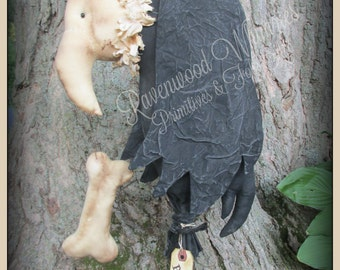 Primitive Halloween, Primitive Vulture, prim halloween, halloween, spooky halloween, primitive pumpkin