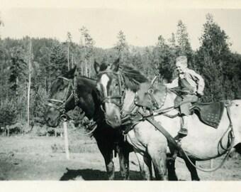 "Vintage Photo ""A Farmer's Son"" Snapshot Photo Old Antique Photo Black & White Photograph Found Photo Paper Ephemera Vernacular - 168"