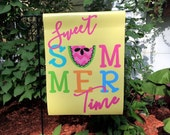 Sweet Summer Time Garden Flag Watermelon Flag