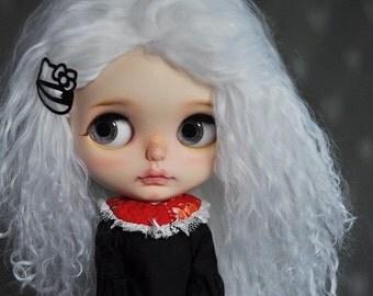 White Tibetan Mohair Wavy Wig for Blythe (Non-Elastic Size)