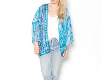 Vintage ZODIAC Silk Kimono , DEAEDSTOCK