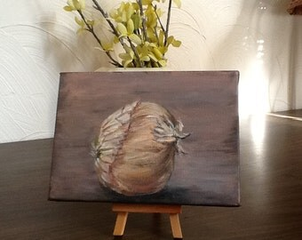 Onion study 5x7 original acrylic painting