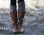 Knitting Pattern for Bulky Chunky Leggings For Boots by Yospun