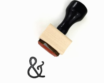 Ampersand Rubber Stamp - Wood Mounted Stamp by Creatiate