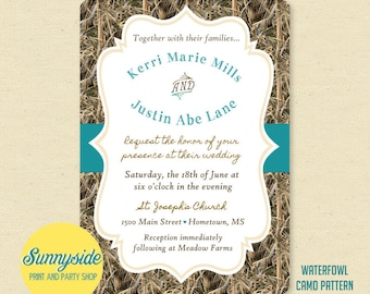 camo wedding invitation  etsy, Wedding invitations