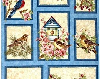 Benartex. Birds of a Feather Panel - 2/3 Yard Panel - Quilting Panel