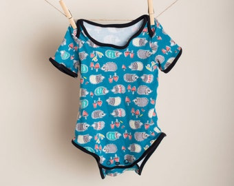 Organic Blue Hedgehog Onesie