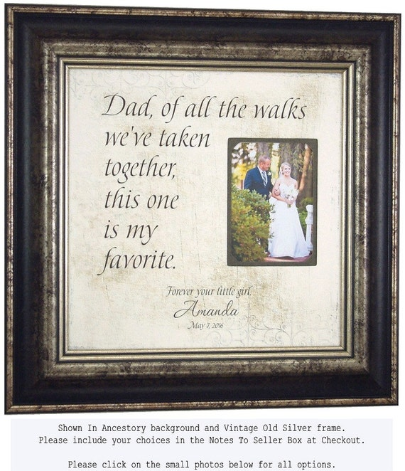 Father Of The Bride Gift Wedding Gift For Parents 16 X 16