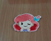 """Ariel The Little Mermaid Iron on Patch Embroidered size 3"""" x 2 1/4"""""""