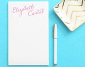 Personalized Notepad with Calligraphy, Personalized notepad set, Writing pad, Writing Paper, Stationery Paper, Custom Notepad, EJ012