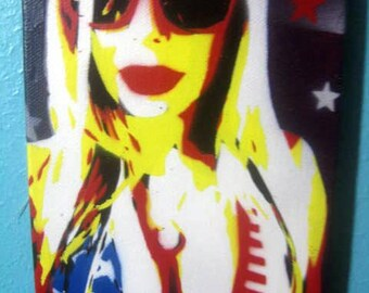 Crystal Hefner Stencil Painting All Hand Cut Original Piece by Jessica Pope Art