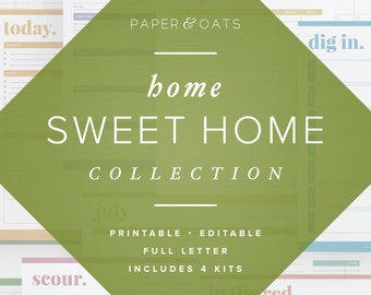 The Home Sweet Home Collection – Editable, Home Management Binder, Family Printables, Organization Planner / Household PDF Printables