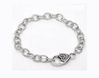 5 Charm Bracelets in Silver Tone – BRHeart