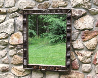 Adirondack Twig and 5 Pine Cone Mirror