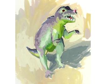 """5x7"""" print - """"Dinosaur 1"""""""