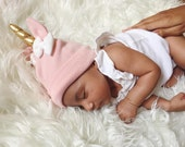 Pink Baby Unicorn Hat