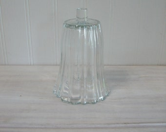 Candle Cup - Home Interiors Vintage Clear Glass Ribbed Large Candle Cup for a Candle Holder Sconce
