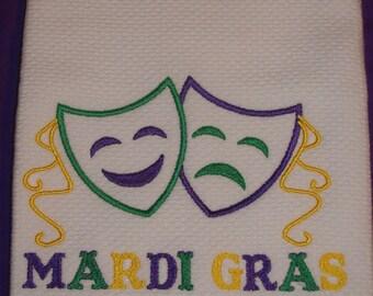 Mardi Gras Dish Towel, New Orleans dish towel