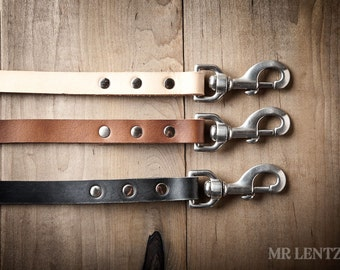 Leather Dog Leash, Leather Leash, Pet Leash, Dog Leash 076