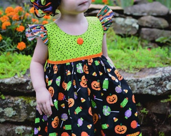 Halloween Candi Dress-- size 12 mos -8