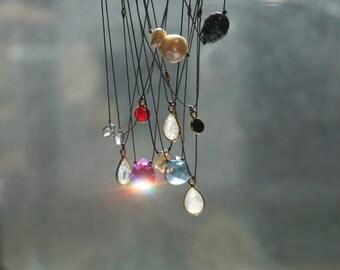 ruby necklace, onyx necklace, gold necklace, onyx pendant necklace, gemstone necklace, gold necklace, gold charm necklace, ruby bezel charm